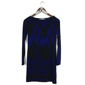 Michael Kors | Blue & Black Long Sleeve Dress